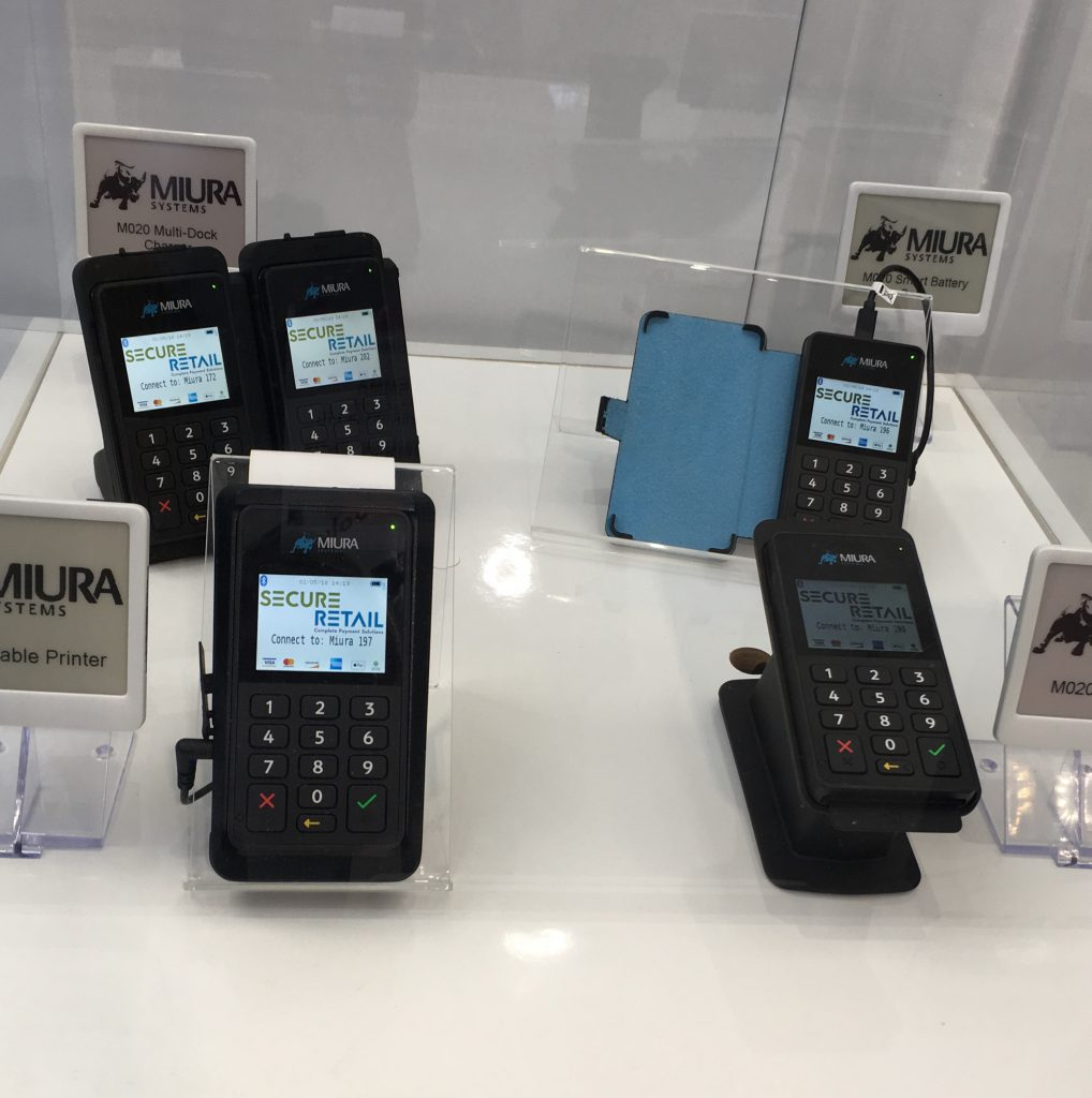 Miura on Secure Retail's RBTE stand