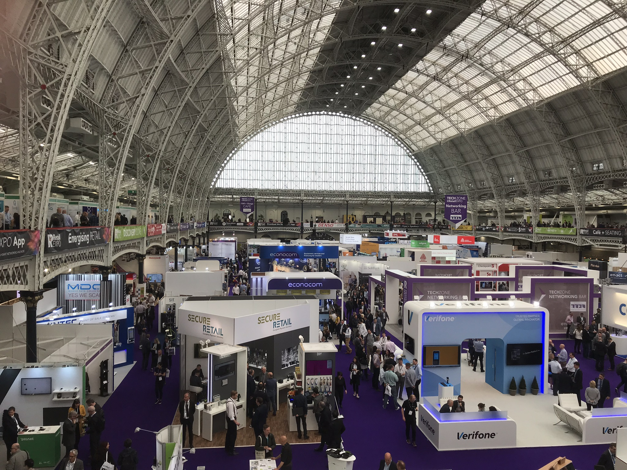 Secure Retail's stand at RetailEXPO Olympia on 01-02 May 2019.